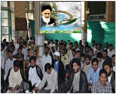 امام (رح) کی شان میں توھین کے خلاف ہندوستان کے طلاب کا قم میں اجتماع