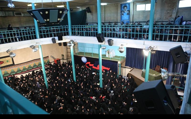 عزاداری اور نماز ظہر عاشور، حسینیہ جماران میں /  شب عاشور جماران میں