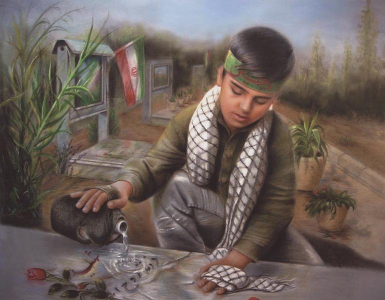 شہید کی اولاد پر امام کی شفقت