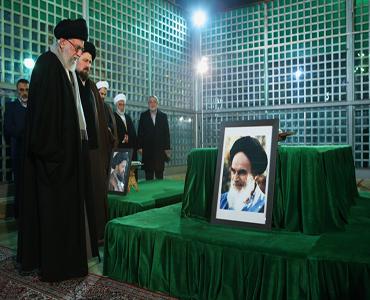 رہبر انقلاب، مرقد امام خمینی (ره) اور گلزار شہداء میں