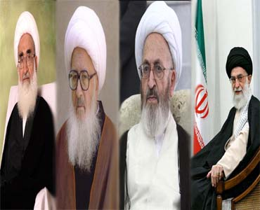 رہبر انقلاب اسلامی کی قم کے مراجع تقلید کے ساتھ ملاقات