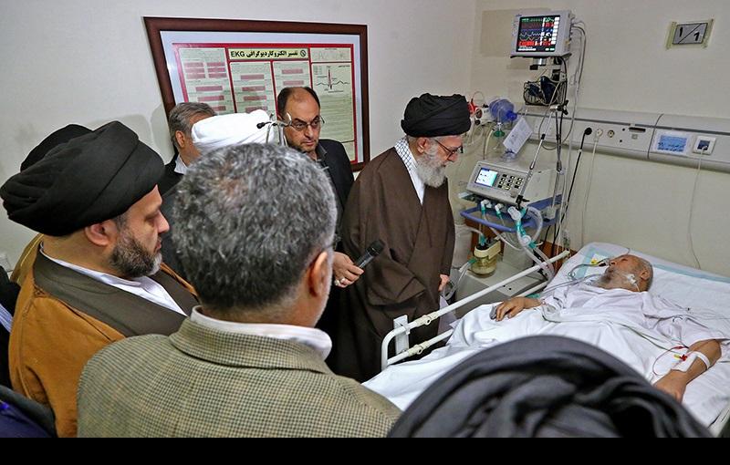 رہبر معظم انقلاب، سید حسن خمینی اور دیگر شخصیات نے آیت اللہ العظمی موسوی اردبیلی کی عیادت کئے/۲۰۱۶ء