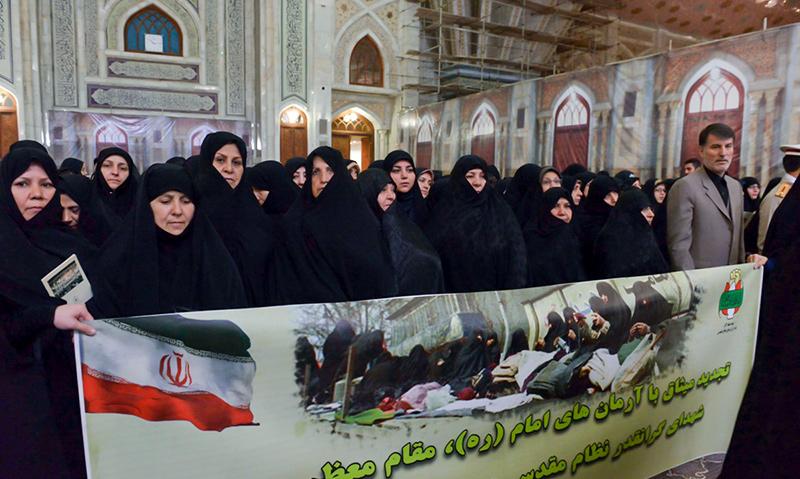مرقد امام خمینی (ره) میں خواتین کی دفاع مقدس میں شرکت اور اقدار کا پبلشنگ ادارے کی حاضری