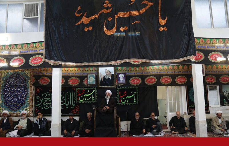 سید الشہداء(ع) کی مجلس عزا، بیت اللہ فاضل لنکرانی میں، یادگار امام کی حاضری/۲۰۱۶ء