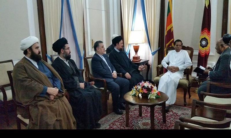 سید حسن خمینی نے سری لنکا میں صدر مملکت اور پارلیمنٹ اسپیکر کے ساتھ ملاقات کی /2016ء