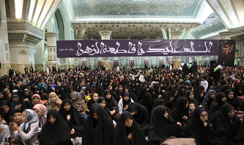مرقد امام خمینی(ره) میں بی بی دوعالم (س) کی شہادت کی تقریب