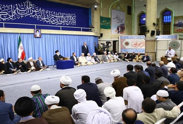 رہبر انقلاب کےحضور، عالمی قرآنی ٹورنامنٹ کے شرکاء
