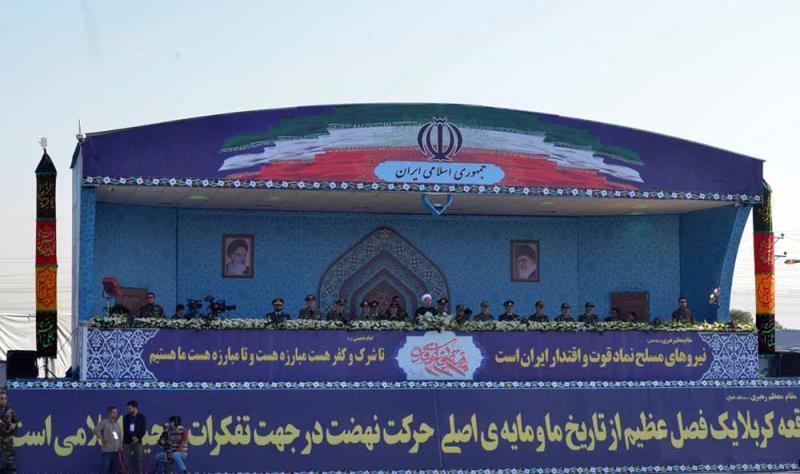 حرم امام خمینی (رح)؛ ہفتہ دفاع مقدس کی مناسبت سے فوجی پریڈ کی تقریب(1)