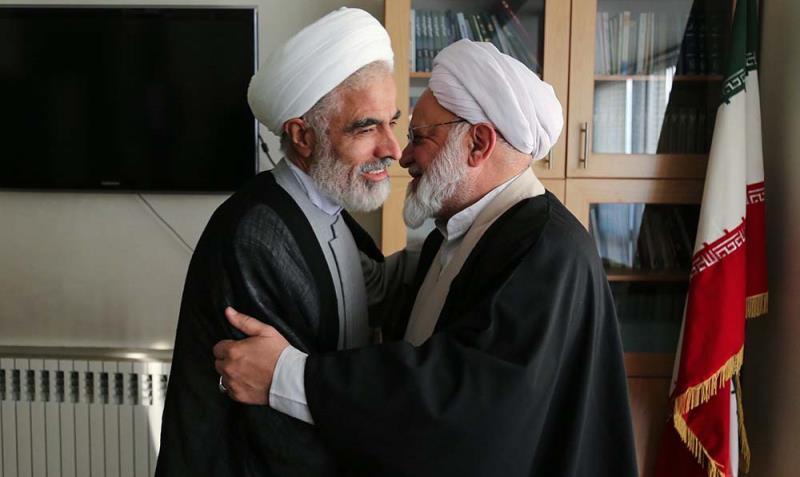 حجج الاسلام انصاری اور مصباحی مقدم کی جماران خبر رساں ایجنسی میں حاضری