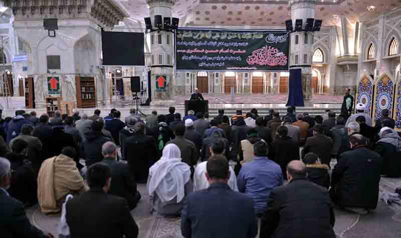 حرم امام خمینی (رح) میں امام حسن عسکری (ع) کی شہادت کی مناسبت سے عزاداری کی تقریب