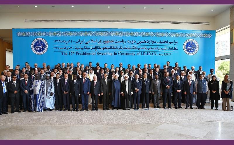 تہران؛ ایران کے 12ویں صدر ڈاکٹر حسن روحانی کی تقریب حلف برداری کی تصویری جھلکیاں /۲۰۱۷ء