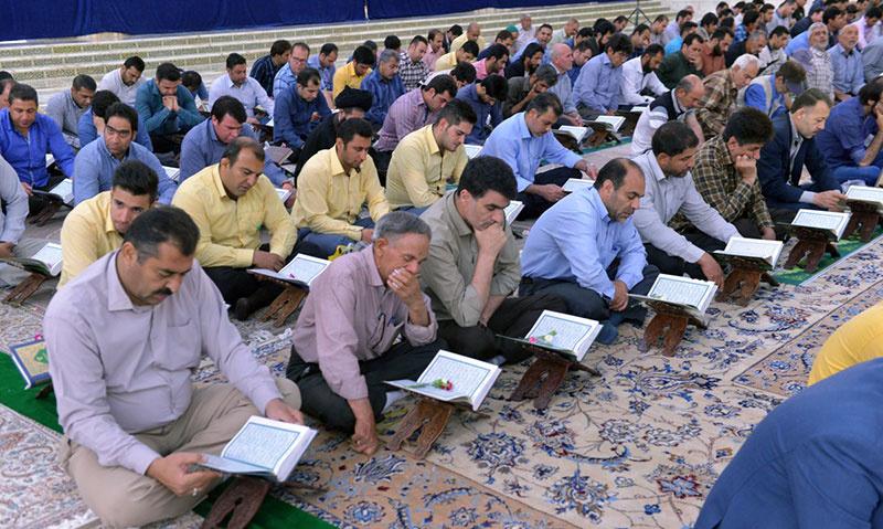 مرقد امام خمینی (ره) میں محفل انس با قرآن کریم
