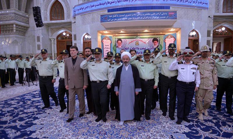 حرم امام خمینی (رح) میں پولیس کمانڈرز کی حاضری اور تجدید میثاق