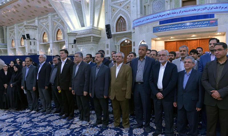 اکیڈمیک جہاد کے ارکان کی حرم امام خمینی (ره) میں حاضری اور خراج تحسین