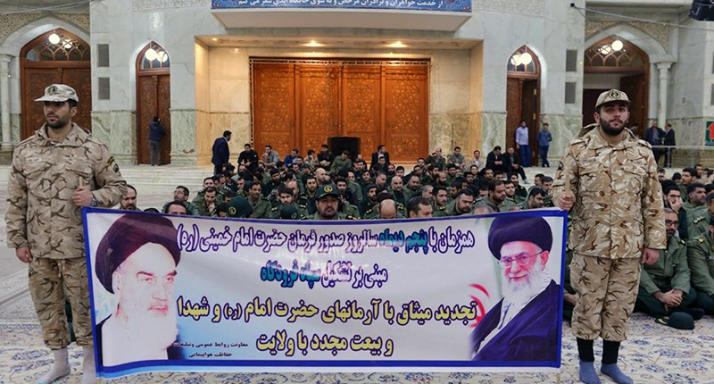 سپاہ پاسداران کے ایوی ایشن تحفظ یونٹ کے کمانڈرز اور کارکنوں کی حرم امام خمینی(رح) میں حاضری اور ان کی تمناؤں سے تجدید عہد