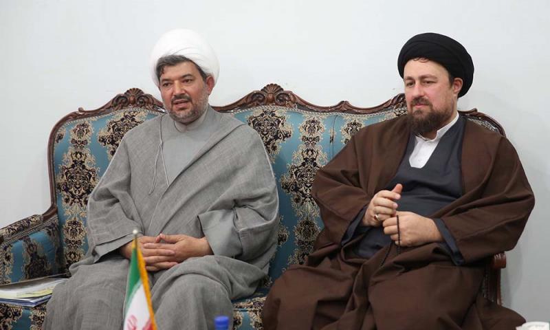 """""""نون و القلم و ما یسطرون"""" مذہبی انجمنوں کے اراکین کی یادگار امام سے ملاقات"""