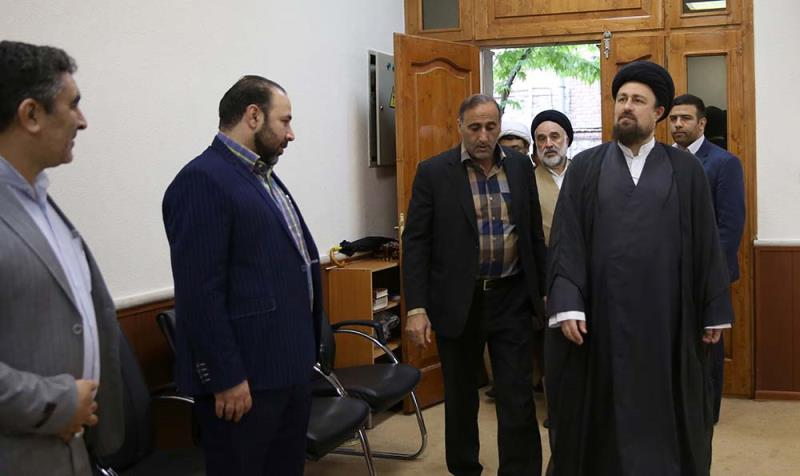 """سید حسن خمینی سے """"یار و یادگار"""" فیسٹیول کے پالیسی کونسل کے اراکین کی ملاقات"""