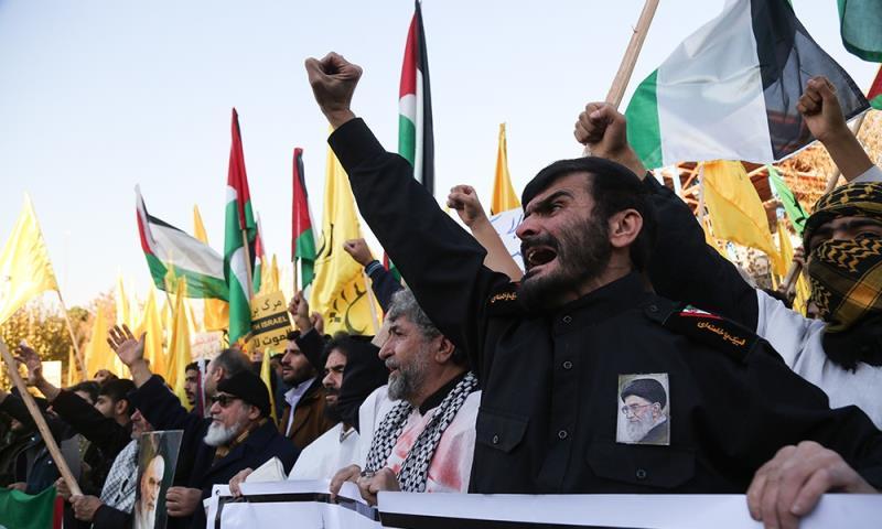 تہران، میدان فلسطین میں مدافعین حریم قدس شریف کا پرجوش اجتماع /۲۰۱۷ء