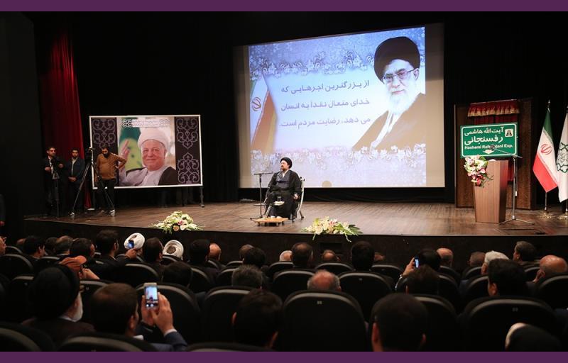 """تہران، سید حسن خمینی کی موجودگی میں """"نیایش سپر ہائی وے""""، آیت اللہ ہاشمی رفسنجانی کے نام سے منسوب کردیا گیا /۲۰۱۷ء"""