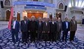 حرم امام خمینی( رح) میں ائیر ڈیفنس کور کے کچھ ریٹائرزکی حاضری اور تجدید عہد