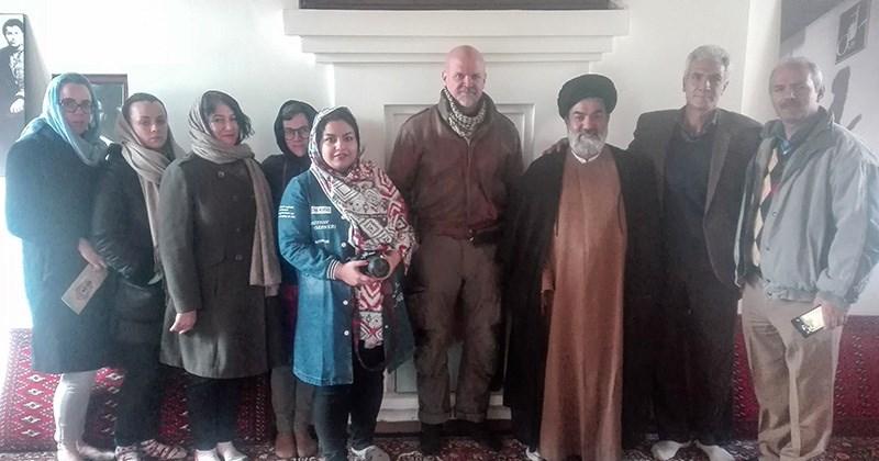 خمین، امام خمینی (رح) کے تاریخی گھر سے اقوام متحدہ کےنمائندے کا دورہ