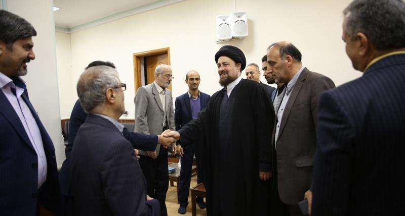 یادگار امام؛ سید حسن خمینی سے بابل کے کچھ ایثارگران کی ملاقات