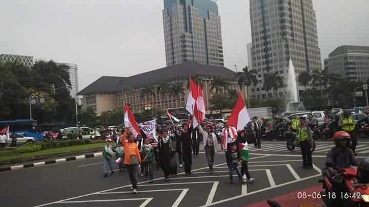 انڈونیشیا میں یوم قدس احتجاجی جلسہ