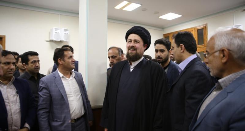 مردم سالاری پارٹی کے سیکریٹری جنرل اور اراکین کی سید حسن خمینی سے ملاقات