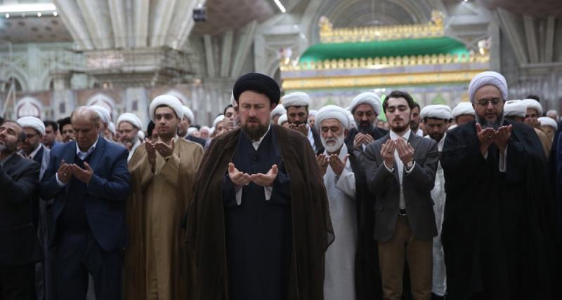 یادگار امام کی موجودگی میں حرم امام خمینی (رح) میں شمسی سال 1397 کے شروعات کی تقریب