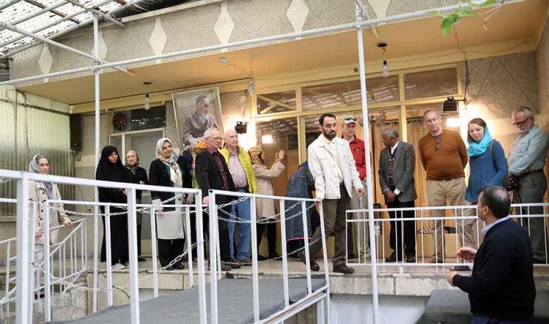 جماران، امام خمینی (رح) کے گھر کا امریکی سیاحوں کا دورہ