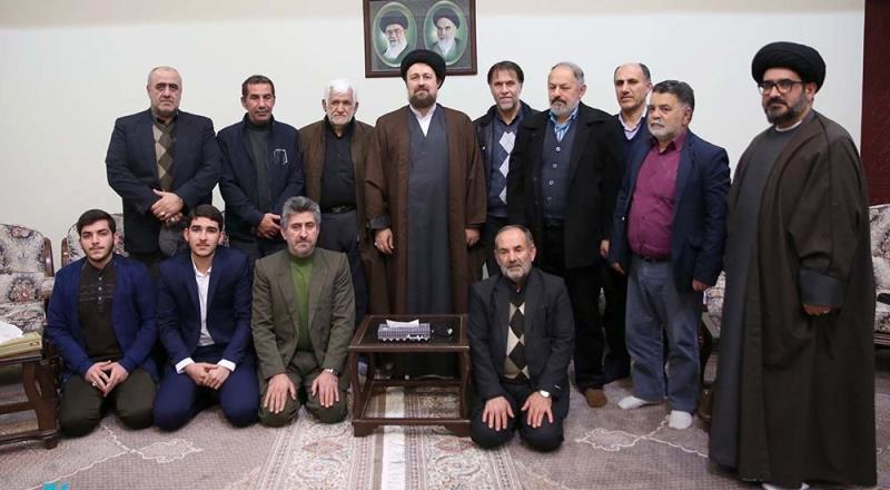 آمل شہر کے کچھ لوگوں کی یادگار امام، سید حسن خمینی سے ملاقات