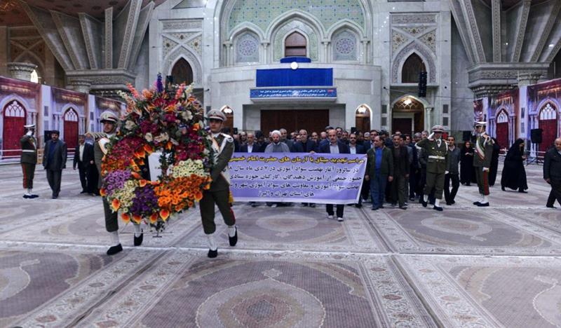 خواندگی تحریک کے مینیجرز کی  حرم امام خمینی (رح) میں حاضری اور ان کی تمناؤں سے تجدید عہد / 2018