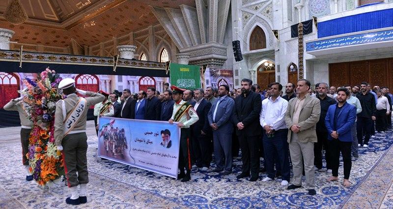 حرم امام خمینی (رح) میں نیشنل میڈیا کی حفاظت  کے مینیجرز اور کارکنوں کی حاضری اور ان کی تمناؤں سے تجدید عہد/2018