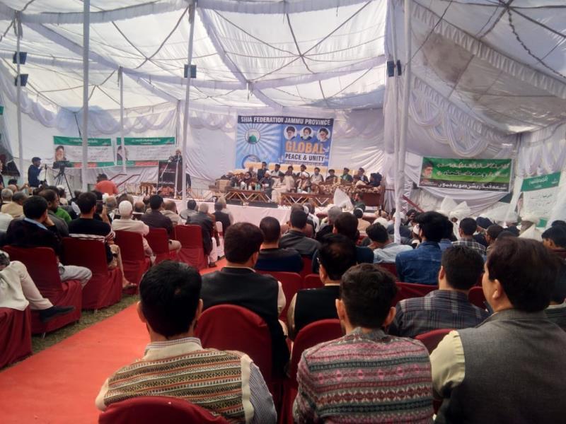 ہفتہ وحدت کی مناسبت سے شیعہ فیڈریشن کے زیر اہتمام جموں میں ''وحدت کانفرنس'' کا انعقاد
