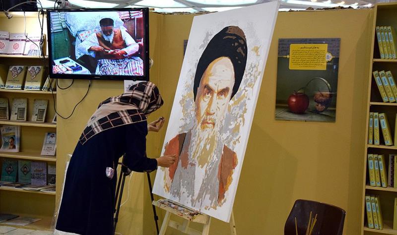 قرآن کریم بین الاقوامی میلہ میں موسسہ تنظیم و نشر آثار امام خمینی (رح) کا بوتھ /2018