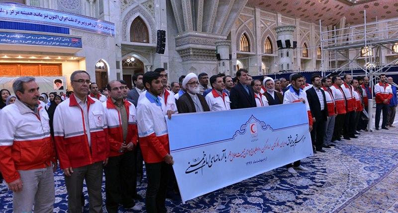 ایرانی ریڈ کریسنٹ کے مینیجرز اور کارکنوں کی حرم امام خمینی (رح) میں حاضری اور ان کی تمناؤں سے تجدید عہد/2018