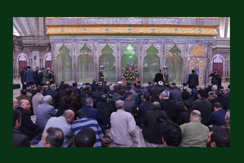 بنیاد شہید کے عہدیداروں کی حرم امام خمینی میں حاضری، فاتحہ خوانی اور تجدید عہد /۲۰۱۸ء