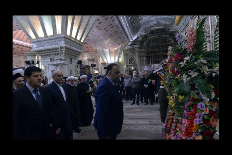 شام کے وزیر اوقاف عبدالستار السید اور ہمراہ علماء کی حرم امام خمینی (رح) میں حاضری اور خراج عقیدت و احترام /۲۰۱۸ء