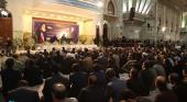 حرم امام خمینی(رح) میں 12/ بہمن کی سالگرہ کے موقع پر منعقدہ تقریب کی تصویری جھلکیاں