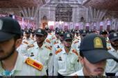 تصویری رپورٹ/پولیس کا حضرت امام خمینی (رہ) کے مزار پر تجدید عہد