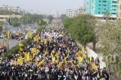 آئی ایس او کراچی کے تحت مرکزی آزادی قبلہ اول ریلی کی تصویری جھلکیاں