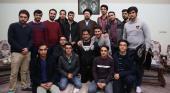 اصفہان کے صنعتی یونیورسٹی کے اسلامی طالب علم ایسوسی ایشن کے اراکین کی یادگار امام، سید حسن خمینی سے ملاقات