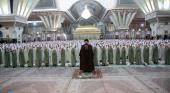 حرم امام خمینی(رح) اور یادگارامام کی موجودگی میں طالبات کا جشن عبادت (تکلیف) کا انعقاد