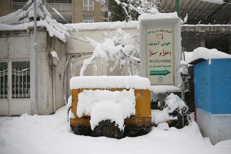 بیت امام خمینی، جماران میں برفباری کے موقع پر /۲۰۱۸ء