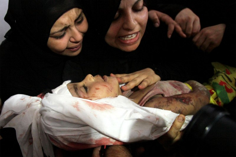 غزہ میں بچوں کے خون سے منا رہے ہیں جشن