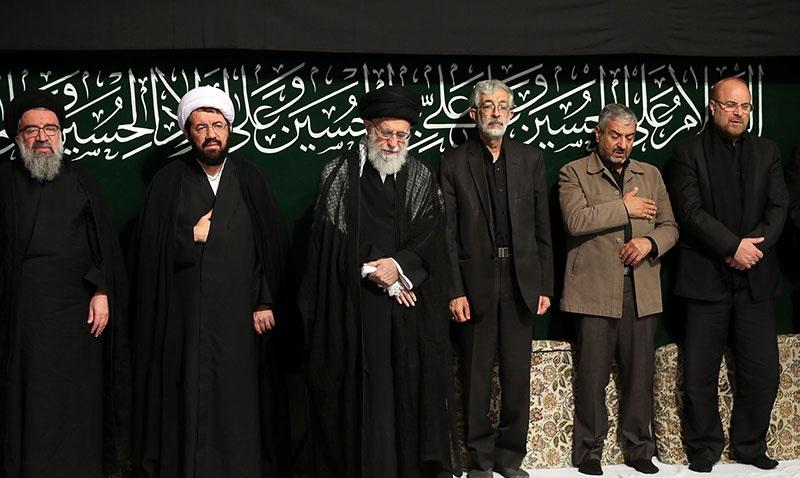 رہبر انقلاب اسلامی کی موجودگی میں عاشور کی شب میں مجلس عزا منعقد
