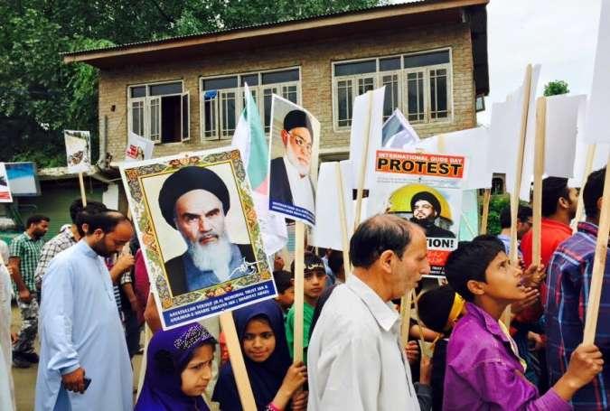 کشمیر میں اسلامی انقلاب کے حق میں مظاہرے