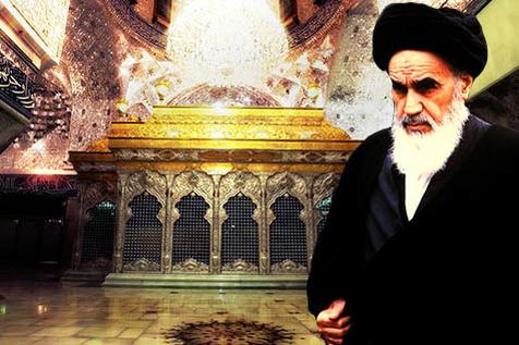 امام خمینی(رح) کا گھر کی چھت پر زیارت عاشورا پڑھنے کا طریقہ