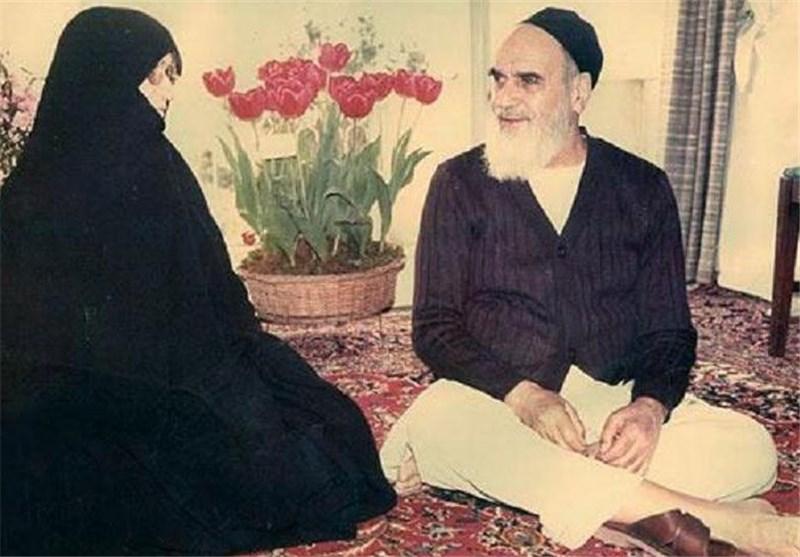 امام خمینی (رح) اور شریک حیات کا احترام