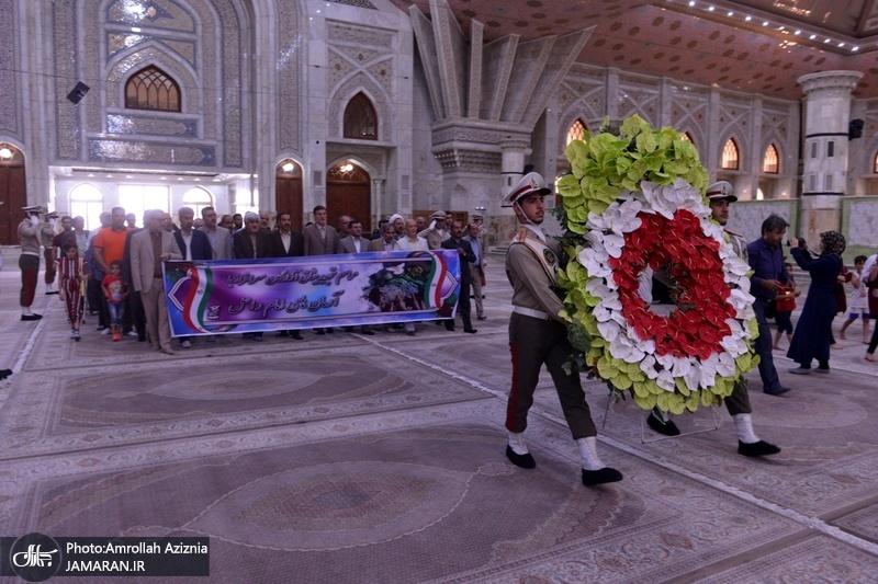 آٹھ سالہ جنگ تحمیلی میں اسیر ہونے والے بہادروں نے اسلامی انقلاب کے بانی سے تجدید عہد کیا